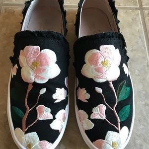 Kate Spade Embroidered Flower Leonie Sneakers